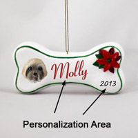 Lhasa Apso Brown w/Sport Cut Bone Ornament (Personalize-It-Yourself)