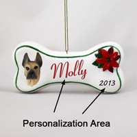 Great Dane Fawn Bone Ornament (Personalize-It-Yourself)