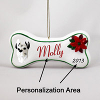 Great Dane Harlequin Bone Ornament (Personalize-It-Yourself)