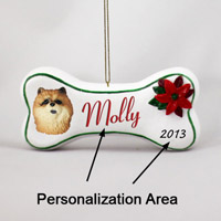 Chow Red Bone Ornament (Personalize-It-Yourself)