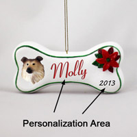 Collie Sable Bone Ornament (Personalize-It-Yourself)