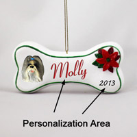 Shih Tzu Mixed Bone Ornament (Personalize-It-Yourself)