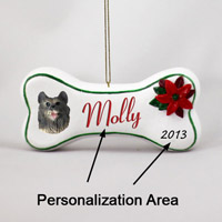 Keeshond Bone Ornament (Personalize-It-Yourself)