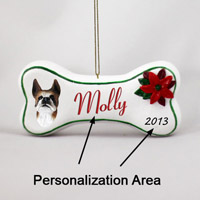 Boxer Brindle Bone Ornament (Personalize-It-Yourself)