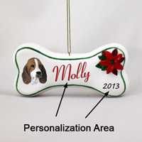 Basset Hound Bone Ornament (Personalize-It-Yourself)