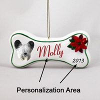Skye Terrier Bone Ornament (Personalize-It-Yourself)