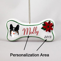 Welsh Corgi Cardigan Bone Ornament (Personalize-It-Yourself)