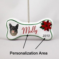 Norwegian Elkhound Bone Ornament (Personalize-It-Yourself)