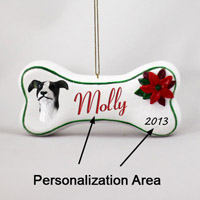Greyhound Black & White Bone Ornament (Personalize-It-Yourself)