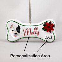 Pit Bull Terrier White Bone Ornament (Personalize-It-Yourself)