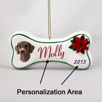 German Short Haired Pointer Bone Ornament (Personalize-It-Yourself)