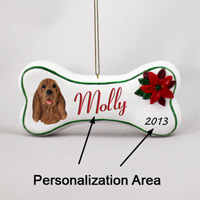 Bloodhound Bone Ornament (Personalize-It-Yourself)