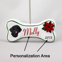 Portuguese Water Dog Bone Ornament (Personalize-It-Yourself)