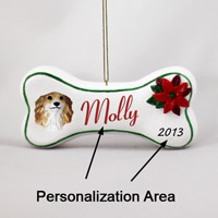 Borzoi Bone Ornament (Personalize-It-Yourself)