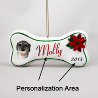 Irish Wolfhound Bone Ornament (Personalize-It-Yourself)