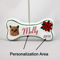 Norwich Terrier Bone Ornament (Personalize-It-Yourself)