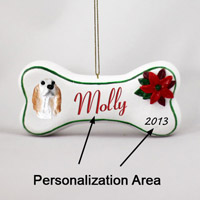 English Setter Belton Orange Bone Ornament (Personalize-It-Yourself)