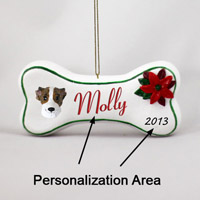 Whippet Brindle & White Bone Ornament (Personalize-It-Yourself)