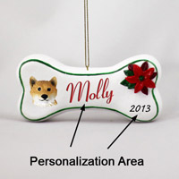 Shiba Inu Bone Ornament (Personalize-It-Yourself)