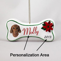 Vizsla Bone Ornament (Personalize-It-Yourself)