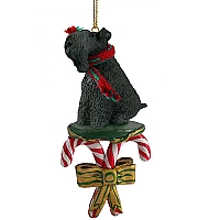 Kerry Blue Terrier Candy Cane Ornament