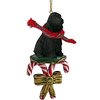 Cocker Spaniel English Black Candy Cane Ornament