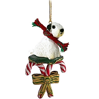 Sealyham Terrier Candy Cane Ornament
