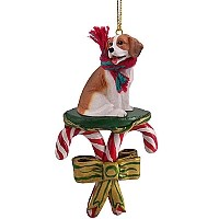 Beagle Candy Cane Ornament