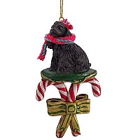 Cocker Spaniel Black Candy Cane Ornament