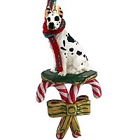 Great Dane Harlequin Candy Cane Ornament