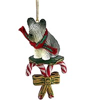 Skye Terrier Candy Cane Ornament