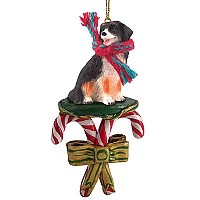 Bernese Mountain Dog Candy Cane Ornament