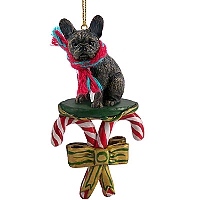 French Bulldog Candy Cane Ornament