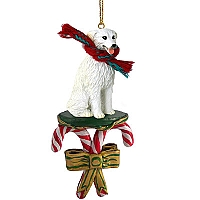 Kuvasz Candy Cane Ornament