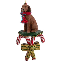 Vizsla Candy Cane Ornament