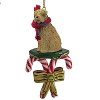 Soft Coated Wheaten Terrier Candy Cane Ornament