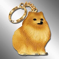 Pomeranian Red Best Friends Key Chains