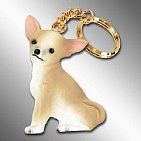 Chihuahua Tan & White Best Friends Key Chains