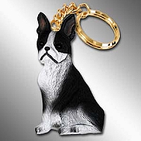 Boston Terrier Best Friends Key Chains