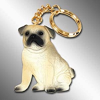 Pug Fawn Best Friends Key Chains