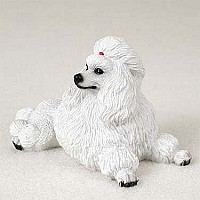 Poodle White Standard Figurine