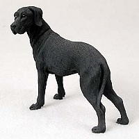 Great Dane Black w/Uncropped Ears Standard Figurine