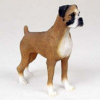 Boxer w/Uncropped Ears Standard Figurine