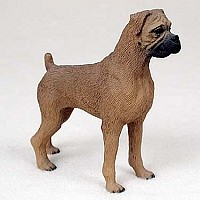 Boxer Tawny w/Uncropped Ears Standard Figurine