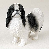 Japanese Chin Black & White Standard Figurine