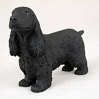 Cocker Spaniel English Black Standard Figurine