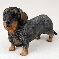 Wire Haired Dachshund Red Standard Figurine