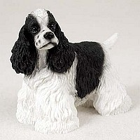 Cocker Spaniel Black & White Standard Figurine