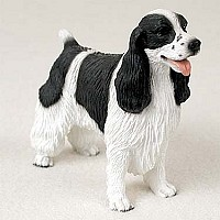 Springer Spaniel Black & White Standard Figurine
