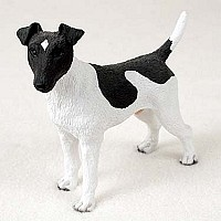 Fox Terrier Black & White Standard Figurine